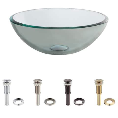 KRAUS 14 Inch Glass Vessel Sink in Clear
