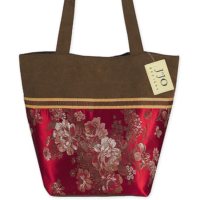 Sweet Jojo Designs Oriental Brocade and Microsuede Tote