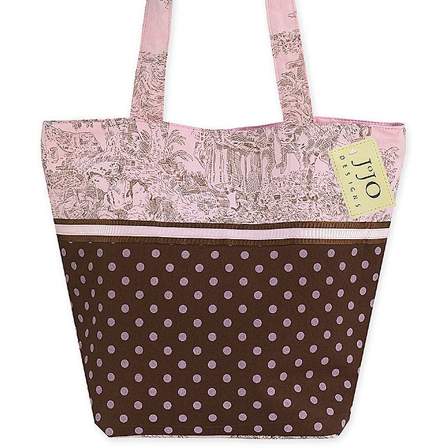 Sweet Jojo Designs Pink/Brown French Toile Tote Bag