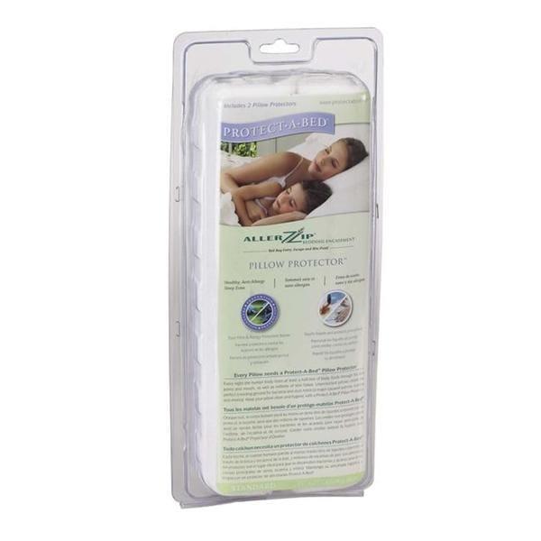 AllerZip Terry Waterproof Standard Pillow Protector (Set of 2)