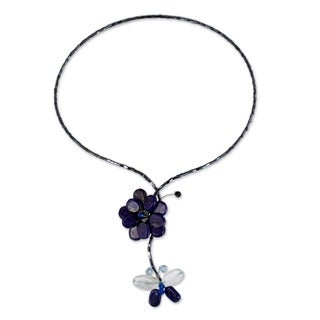 Handmade Lapis Lazuli 'Song of Summer' Choker (Thailand)