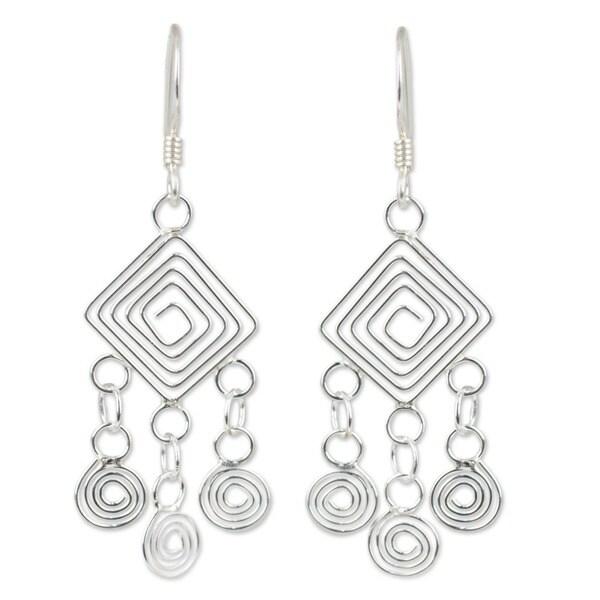 Sonia Geometric TRIPLE Semi Circle Dangle Earrings