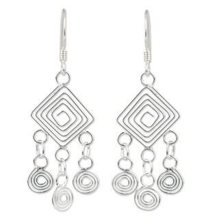 Handmade 'Geometry Lesson' Earrings (Thailand)