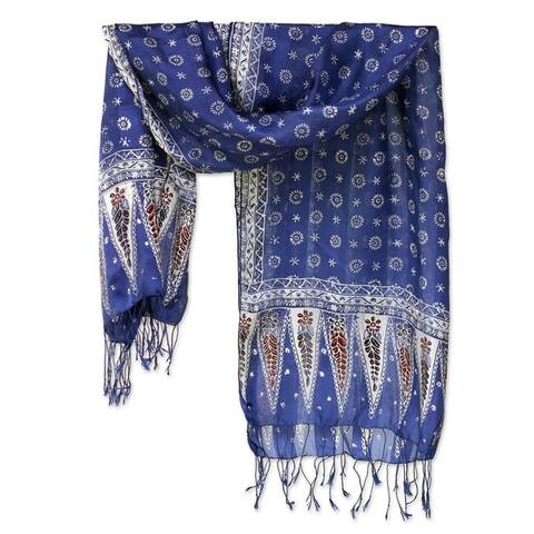 Handmade Silk Awakening Batik Scarf (Indonesia)