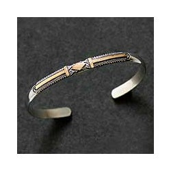 18k Goldplated Silver 'Truth' Bracelet (Indonesia)
