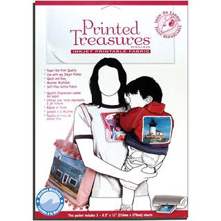 Printed Treasures Printable Fabric Iron-on Sheets (Pack of 3)
