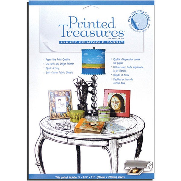 Printed Treasures Printable Peel and Stick Sheets (Pack of 3)