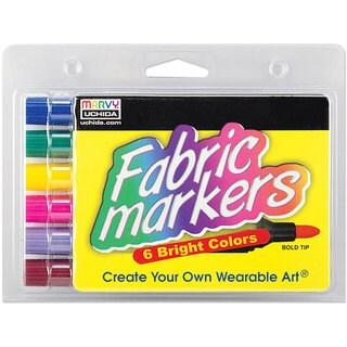 Uchida Odorless Broad-Tip Fabric Markers (Pack of 6)