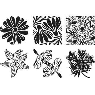 Artist's Paintstiks Floral Rubbing Plates