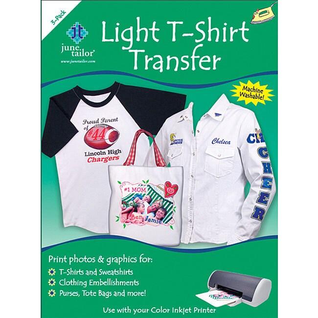 June Tailor Light T-shirt Transfer Paper (Pack of 3), Whi...