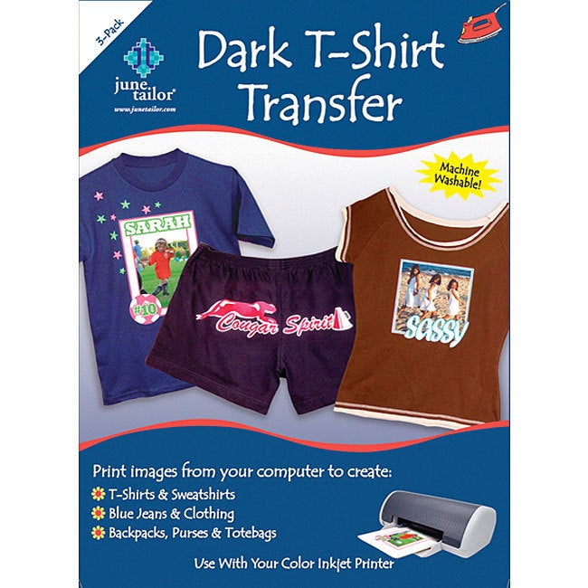 June Tailor Dark T-shirt Inkjet Transfers (Cotton)