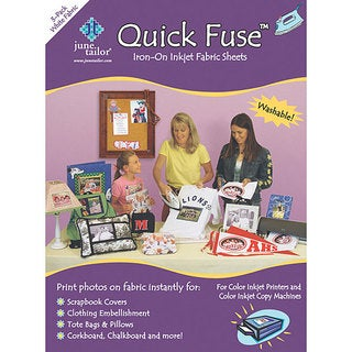 June Tailor Quick Fuse Iron-on Fabric Sheets (Pack of 3)