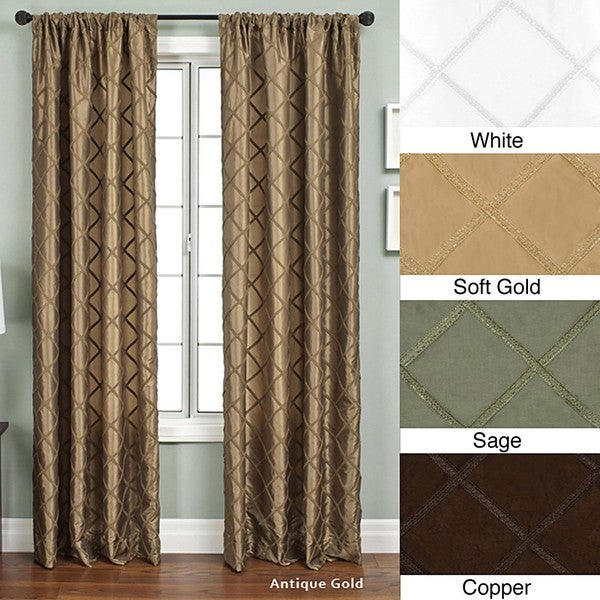 Ashford Rod Pocket 108 Inch Curtain Panel 55 X 108 Free Shipping Today