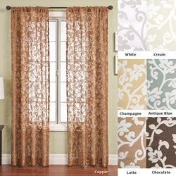 Bellino Scroll Rod Pocket 96-inch Curtain Panel - 53 x 96