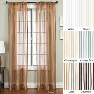 Bellino Stripe Rod Pocket 84-inch Panel - 53 x 84