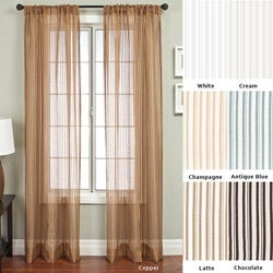 Bellino Stripe Rod Pocket 96-inch Panel - 53 x 96