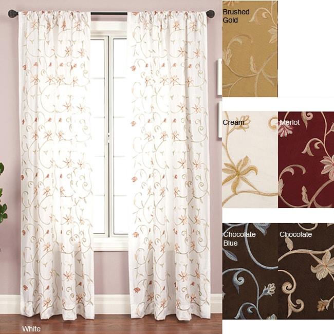 Softline Cairo Rod Pocket 96-inch Curtain Panel