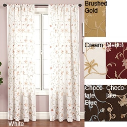 Softline Cairo Rod Pocket 96-inch Curtain Panel