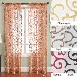 Softline Chiante Rod Pocket Curtain Panel 96 inch