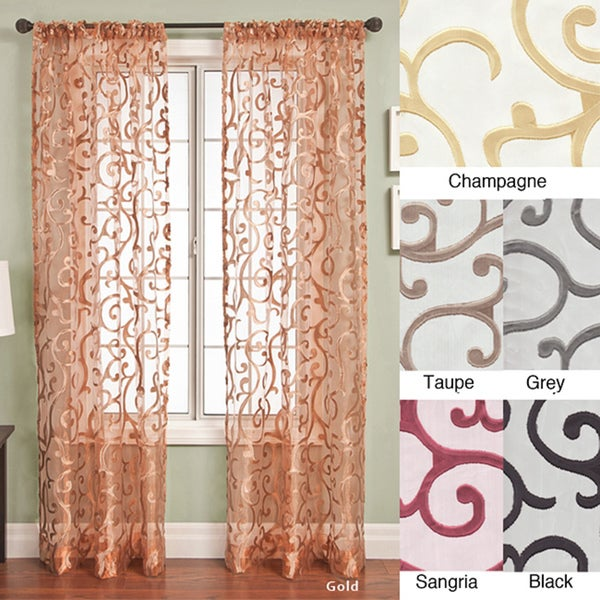 Chiante Rod Pocket Curtain Panel 96 inch - 11415094 - Overstock.com ...