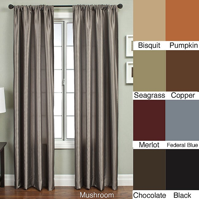Covina 84-inch Rod Pocket Panel Curtain - 11415102 - Overstock.com ...