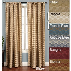 Softline Duchess Circles Rod Pocket 120-inch Panel - 50 x 120