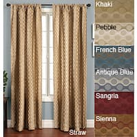 Softline Duchess Circles Rod Pocket 96-inch Panel - 50 x 96