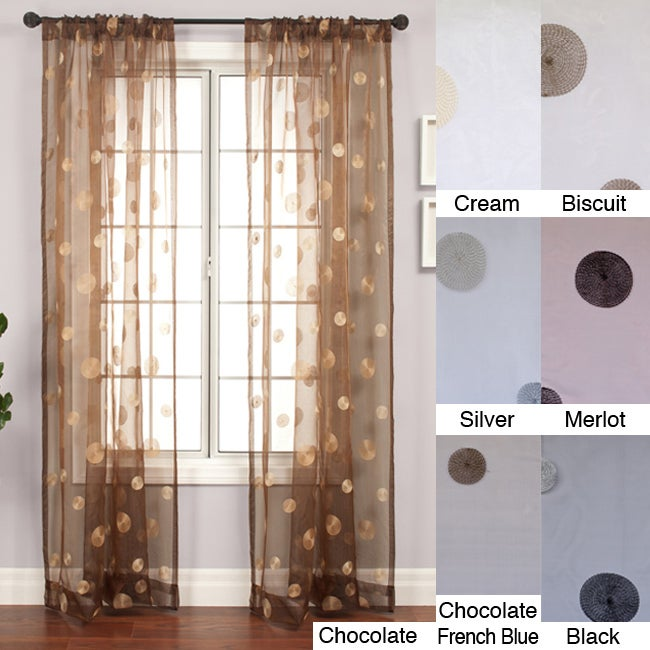 Softline Dots Embroidered 84-inch Sheer Panel