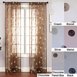 Softline Dots Embroidered 96-inch Sheer Panel - 55 x 96