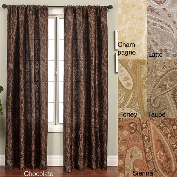 Softline Geneva Rod Pocket 96-inch Curtain Panel