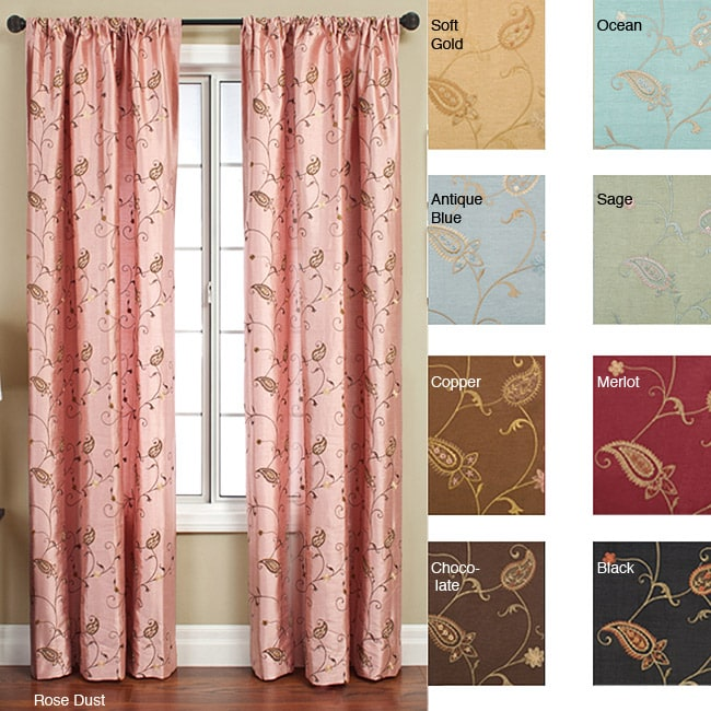 softline jakarta rod pocket 96 inch curtain panel free