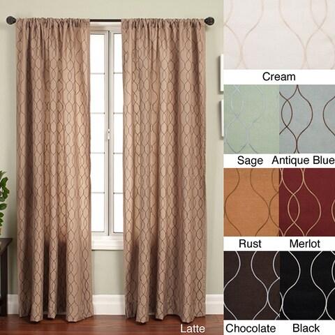 Softline Keeva Rod Pocket 108-inch Curtain Panel - 55 x 108