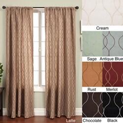 Softline Keeva Rod Pocket 84-inch Curtain Panel - 55 x 84