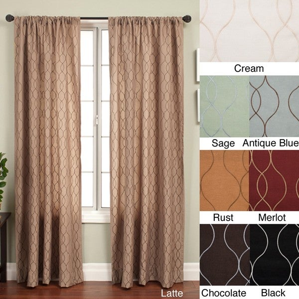 Softline Keeva Rod Pocket 84 Inch Curtain Panel 55 X 84 Free Shipping Today
