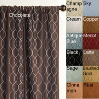 Softline Keeva Rod Pocket 96 Inch Curtain Panel 55 X