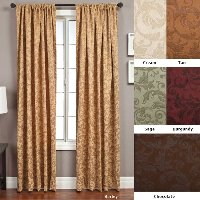 Softline Livingston Rod Pocket 84 Inch Curtain Panel 56 X 84 Free Shipping Today Overstock