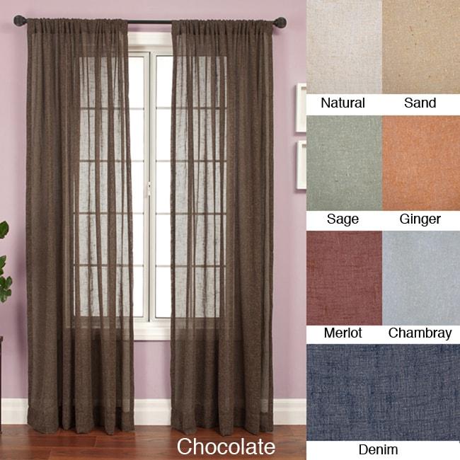 Softline Martinique Rod Pocket 84-inch Curtain Panel
