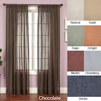 Softline Martinique Rod Pocket 84-inch Curtain Panel - 55 x 84