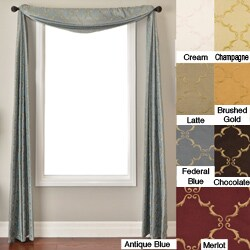 Medici Trellis Faux Silk Scarf Valance (55 in. x 216 in.) (3 options available)