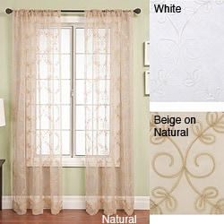 Softline Monroe Rod Pocket 96-inch Window Panel