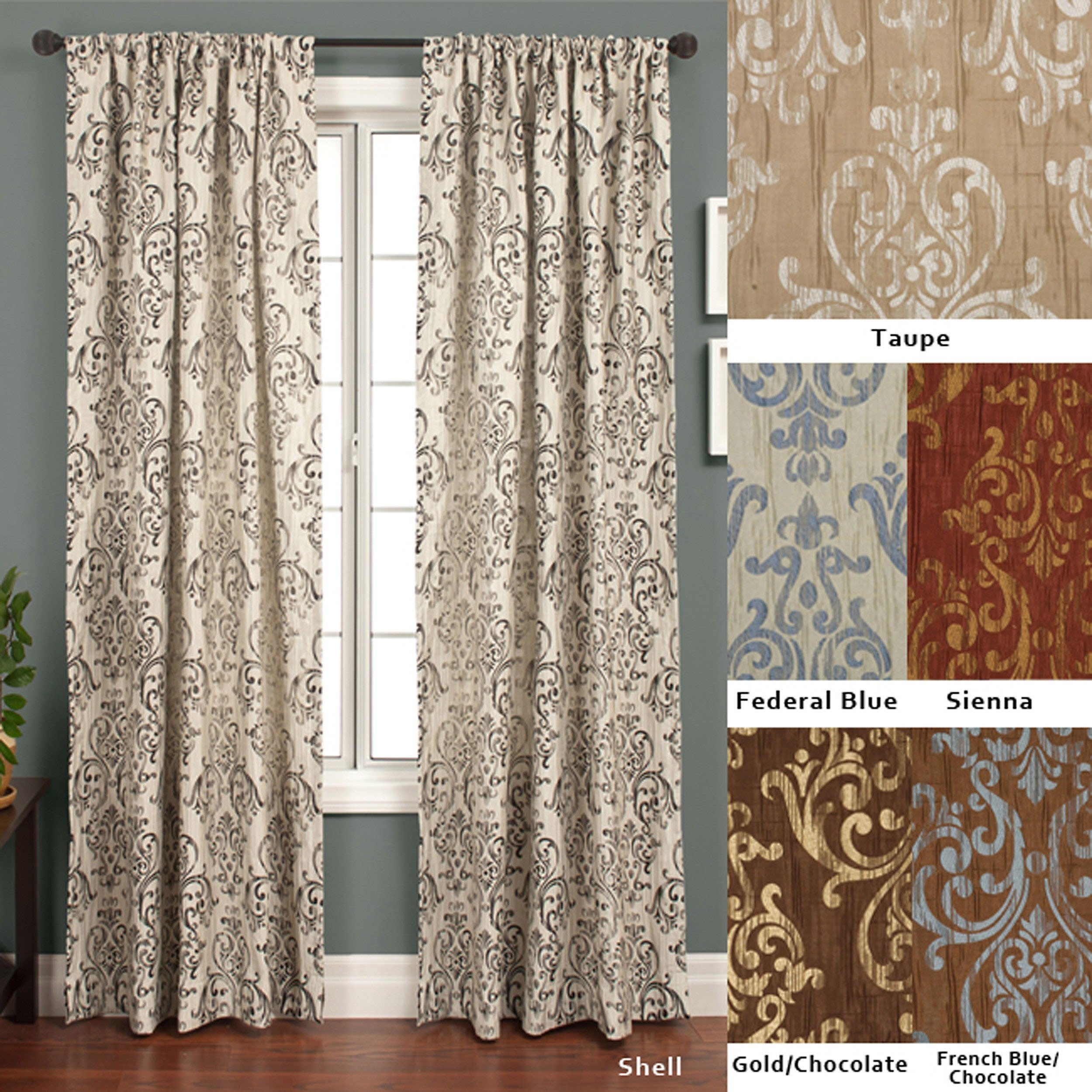 Details About Softline Roman Crinkle Jacquard 120 Inch Curtain Panel 50 X