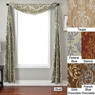 Softline Roman Crinkle 6-yard Scarf Valance (French Blue on Chocolate)