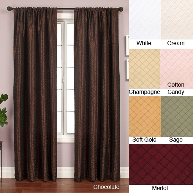 Softline Shire Pintuck Taffeta 108 Inch Curtain Panel