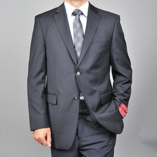 Men's 2-button Black Wool Blazer