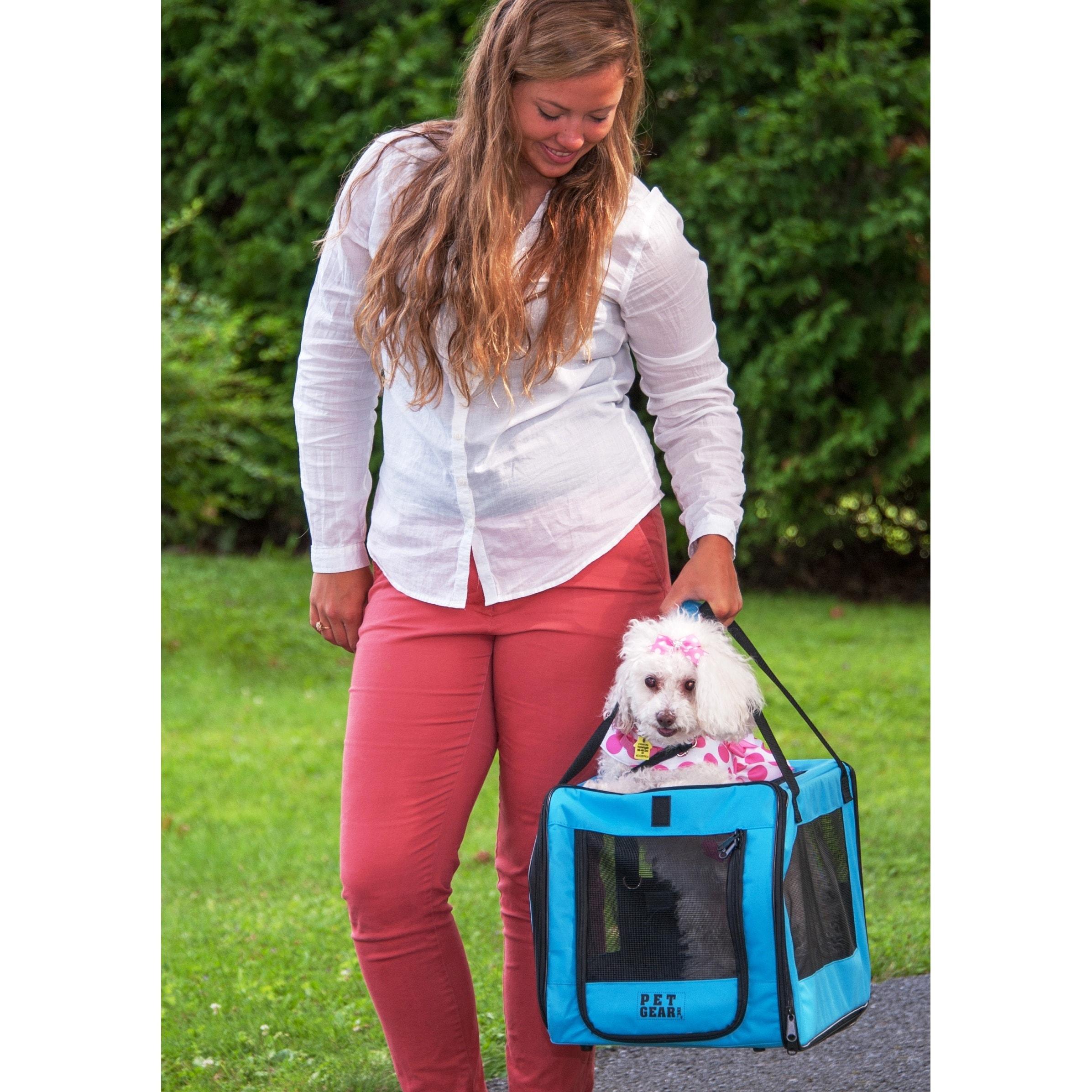 Pet Gear PetGear Blue Nylon Zippered Soft Car Seat and Ca...