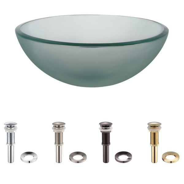 inch frosted glass vessel sink pop up drain 454486300f installation exploded bowl sinks for bathrooms