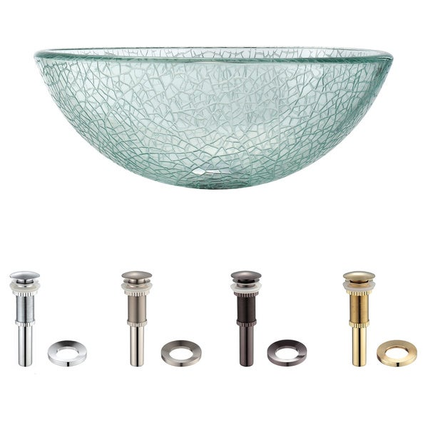 Kraus Mosaic Glass 14 -inch Vessel Sink