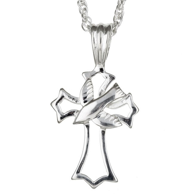 Sterling Essentials Sterling Silver 16-inch Dove Necklace
