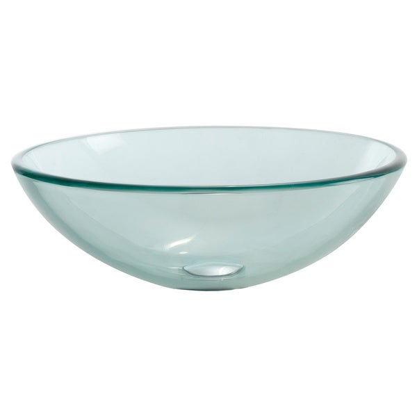 KRAUS Glass Vessel Sink in Clear