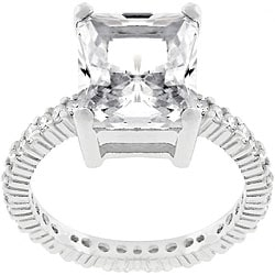 Kate Bissett Sterling Silver 5-carat CZ Engagement Ring